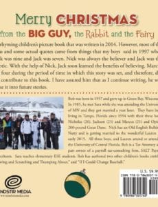 Merry Christmas from the Big Guy the Rabbit and the Fairy by M. Robert Neuman bc | Mindstir Media Book Cover