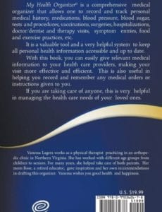 My Health organizer Information All In One Place | Mindstir Media Book Cover