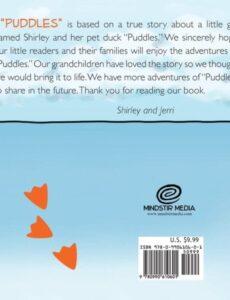 Puddles My Pet Duck childrens book | Mindstir Media Book Cover