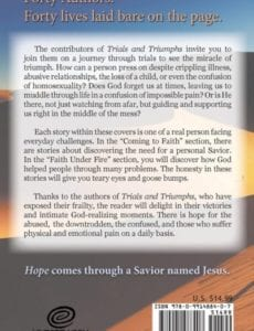 Trials and Triumphs Hope Beyond Circumstances 40 Life Changing Testimonies by Faithwriters author Amber Leggette Aldrich | Mindstir Media Book Cover