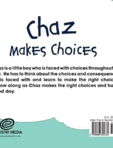 Chaz Makes Choices by Love Simzisko about manners | Mindstir Media Book Cover