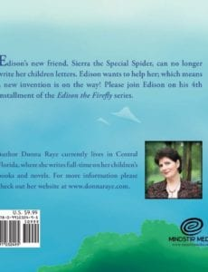 Edison the Firefly Sierra the Special Spider donna raye | Mindstir Media Book Cover