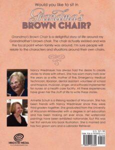 Grandmas Brown Chair by author Nancy Wiedmeyer   Mindstir Media Book Cover