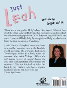 Just Leah new girl childrens book | Mindstir Media Book Cover
