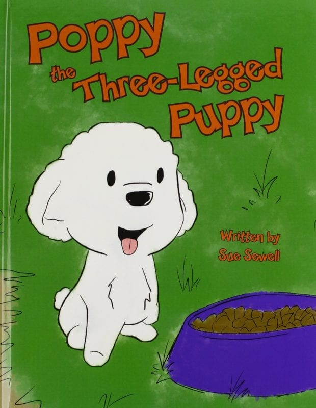 Poppy the Three Legged Puppy by Sue Sewell | Mindstir Media Book Cover
