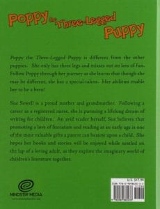 Poppy the Three Legged Puppy by childrens author Sue Sewell | Mindstir Media Book Cover