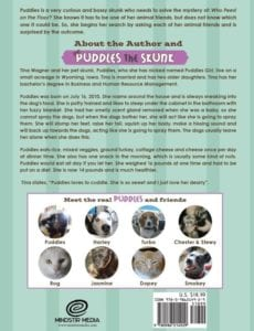 Puddles the Skunk in Who Peed on the Floor by author Tina L. Wagner | Mindstir Media Book Cover