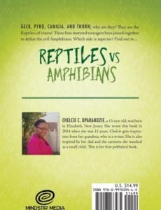 Reptiles vs. Amphibians by author Chelcie C. Oparanozie | Mindstir Media Book Cover