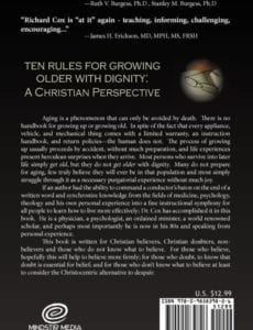 Ten Rules for Growing Older with Dignity A Christian Perspective by Richard H. | Mindstir Media Book Cover