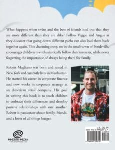 The Adventures of Veggie Angus Burger by author Robert Magliano | Mindstir Media Book Cover