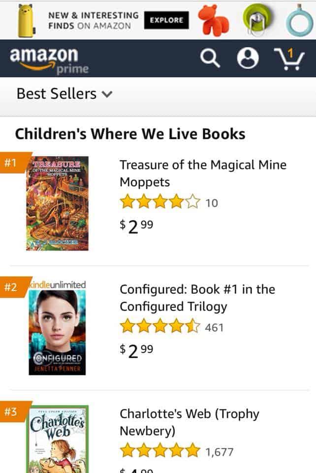 K.J. Blocker for becoming a 1 Amazon bestselling author 2   Mindstir Media Book Cover