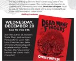 Meet the Author Corbett Davis Dead Mans Fingers Book Signing | Mindstir Media Book Cover