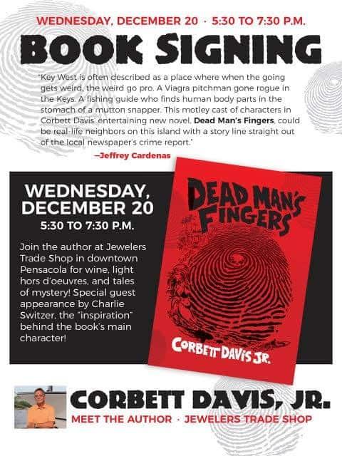 Meet the Author Corbett Davis Dead Mans Fingers Book Signing | Mindstir Media Book Cover