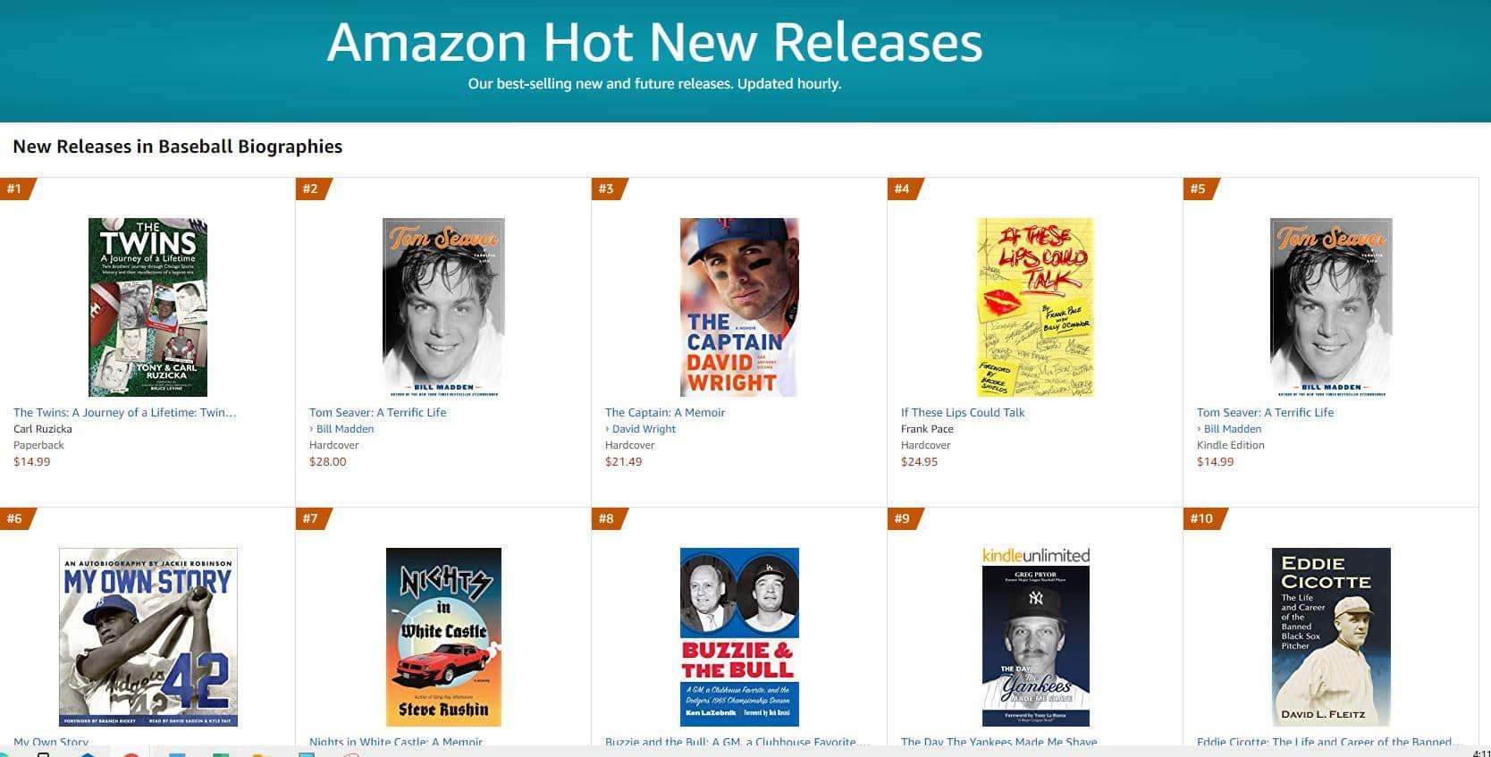 1 hot new release baseball 1 | Mindstir Media Book Cover
