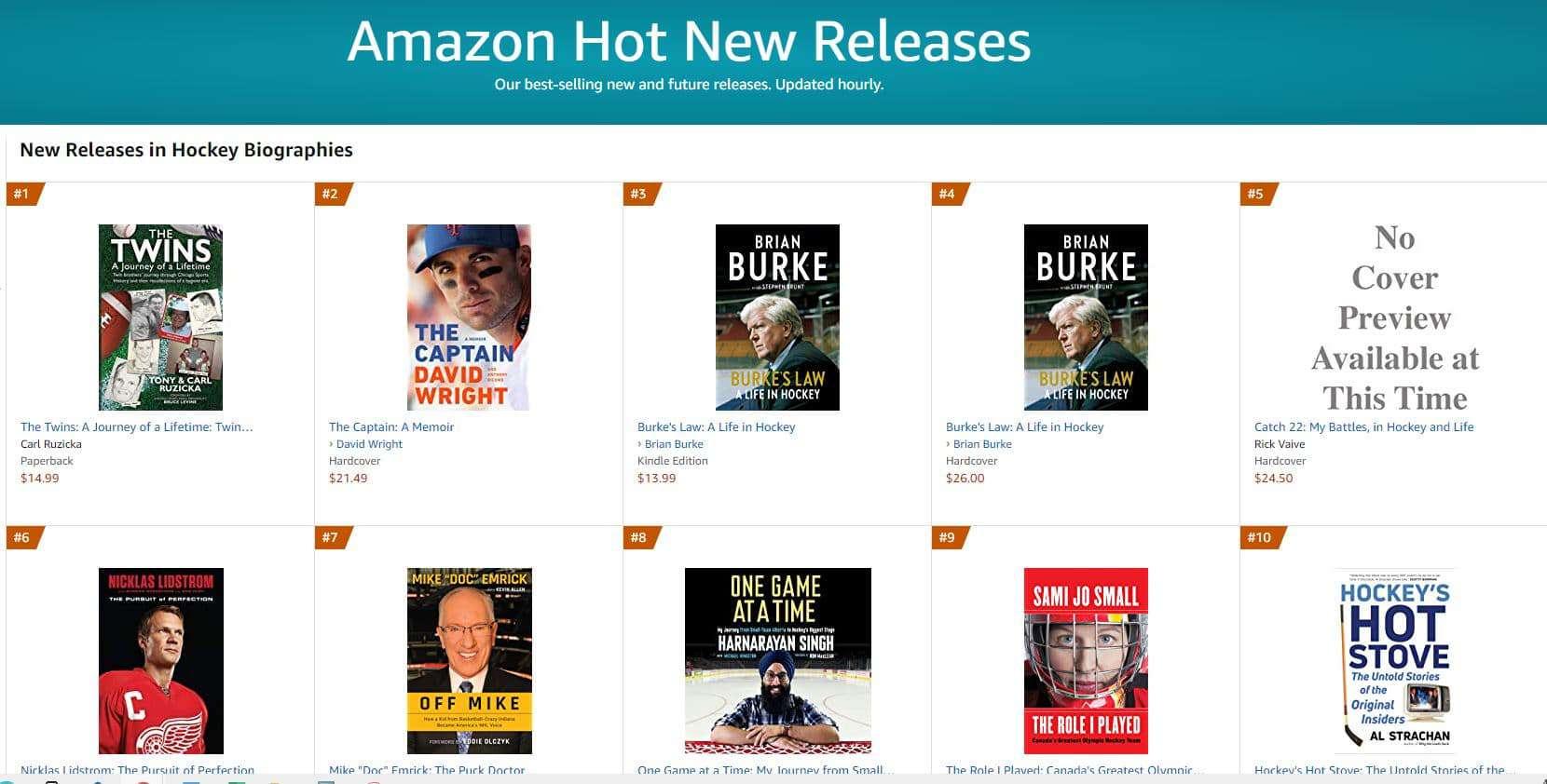 1 hot new release hockey 2 | Mindstir Media Book Cover