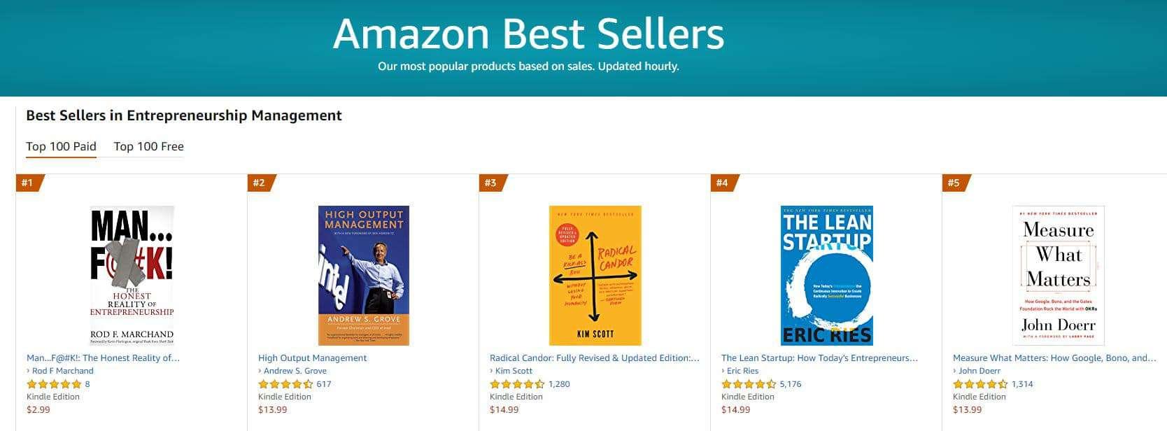 Entrepreneurship Management 1 bestseller 1 | Mindstir Media Book Cover