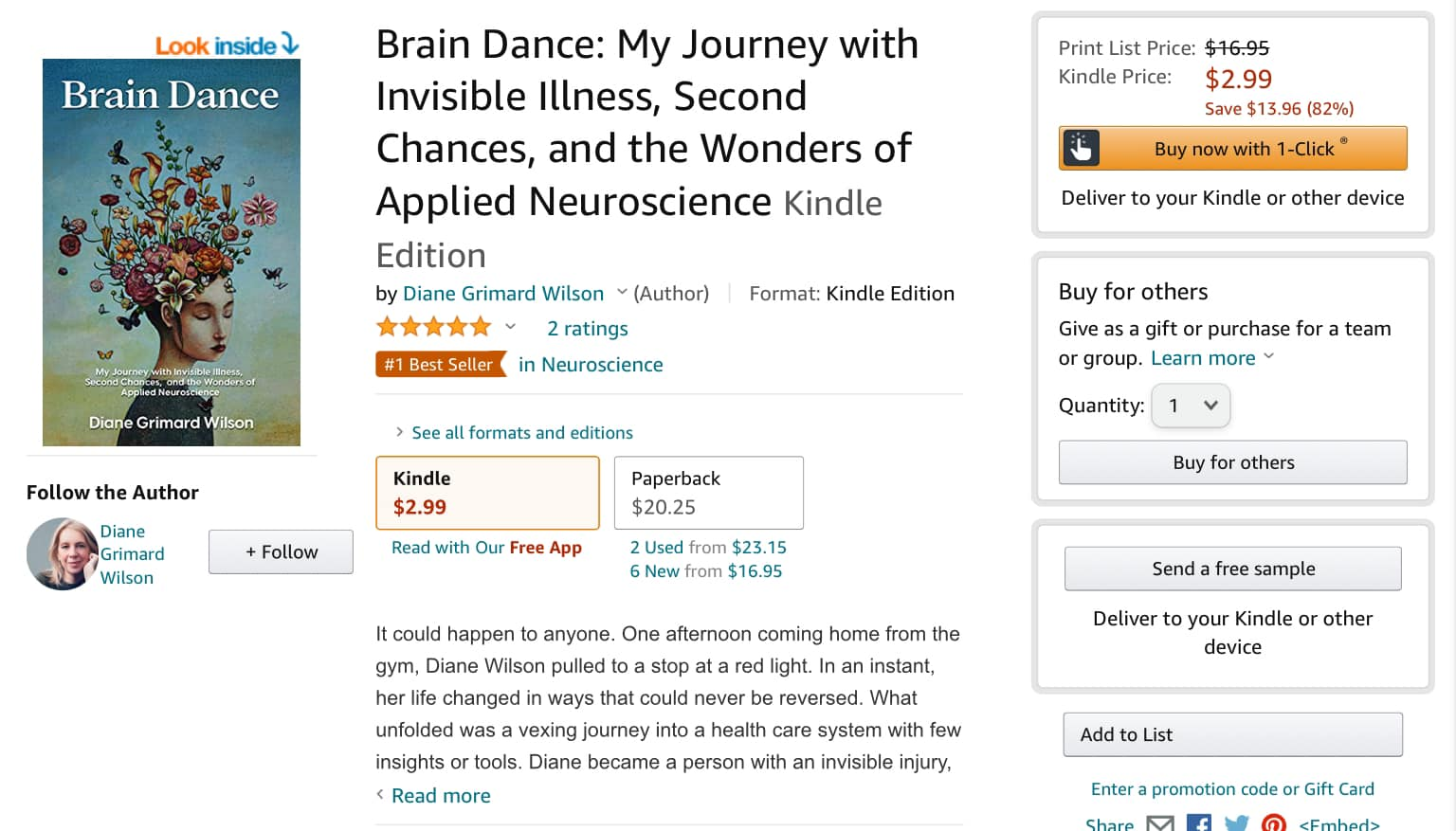 Brain Dance My Journey with Invisible Illness Second Chances and the Wonders of Applied Neuroscience 6   Mindstir Media Book Cover
