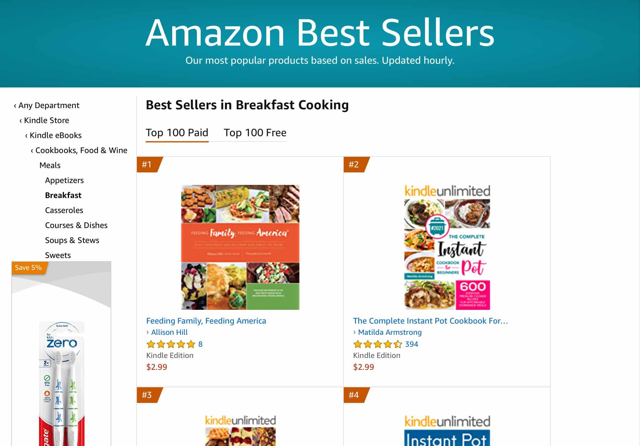 Feeding Family Feeding America Amazon Best Seller by allison hill 5   Mindstir Media Book Cover