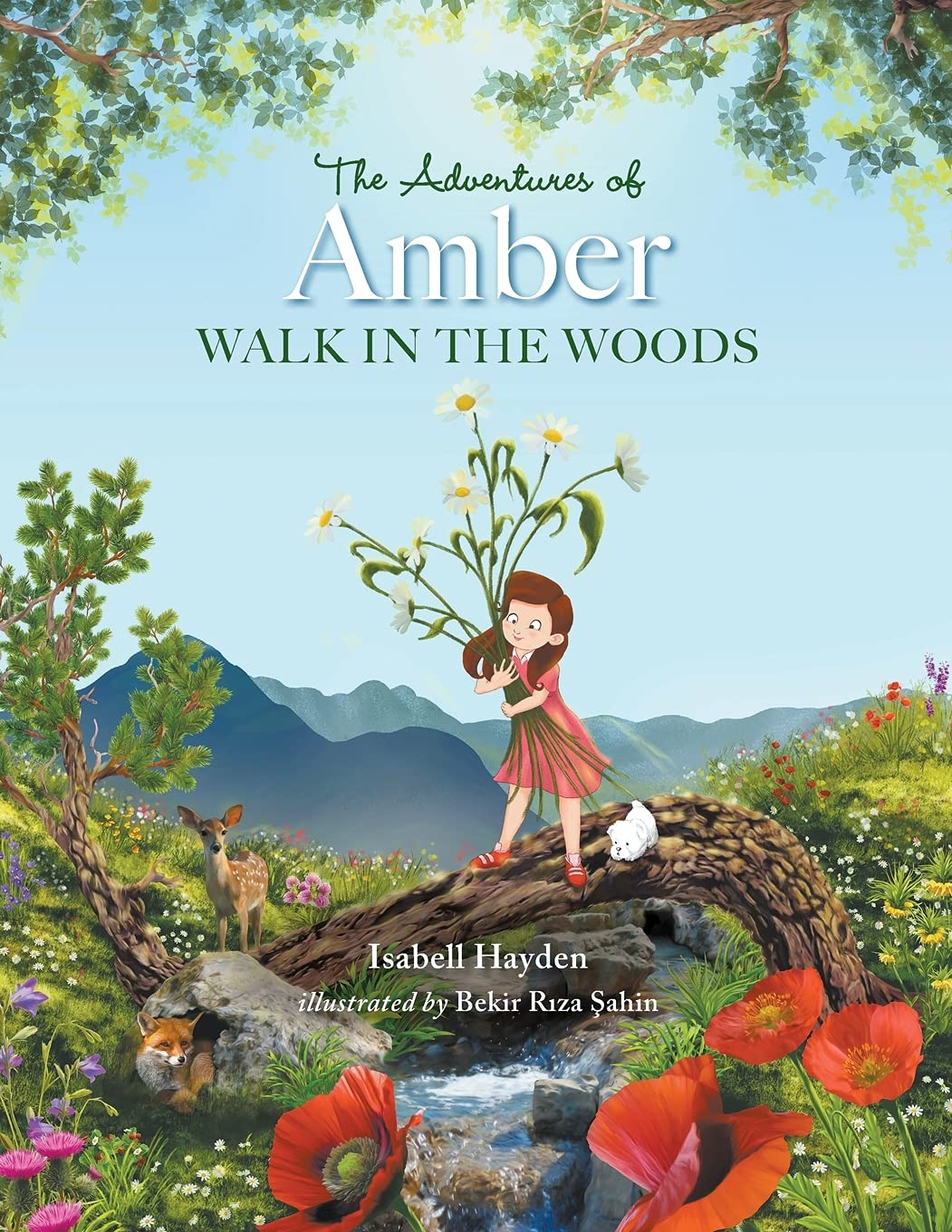 The Adventures of Amber Walk in the Woods | Mindstir Media Book Cover