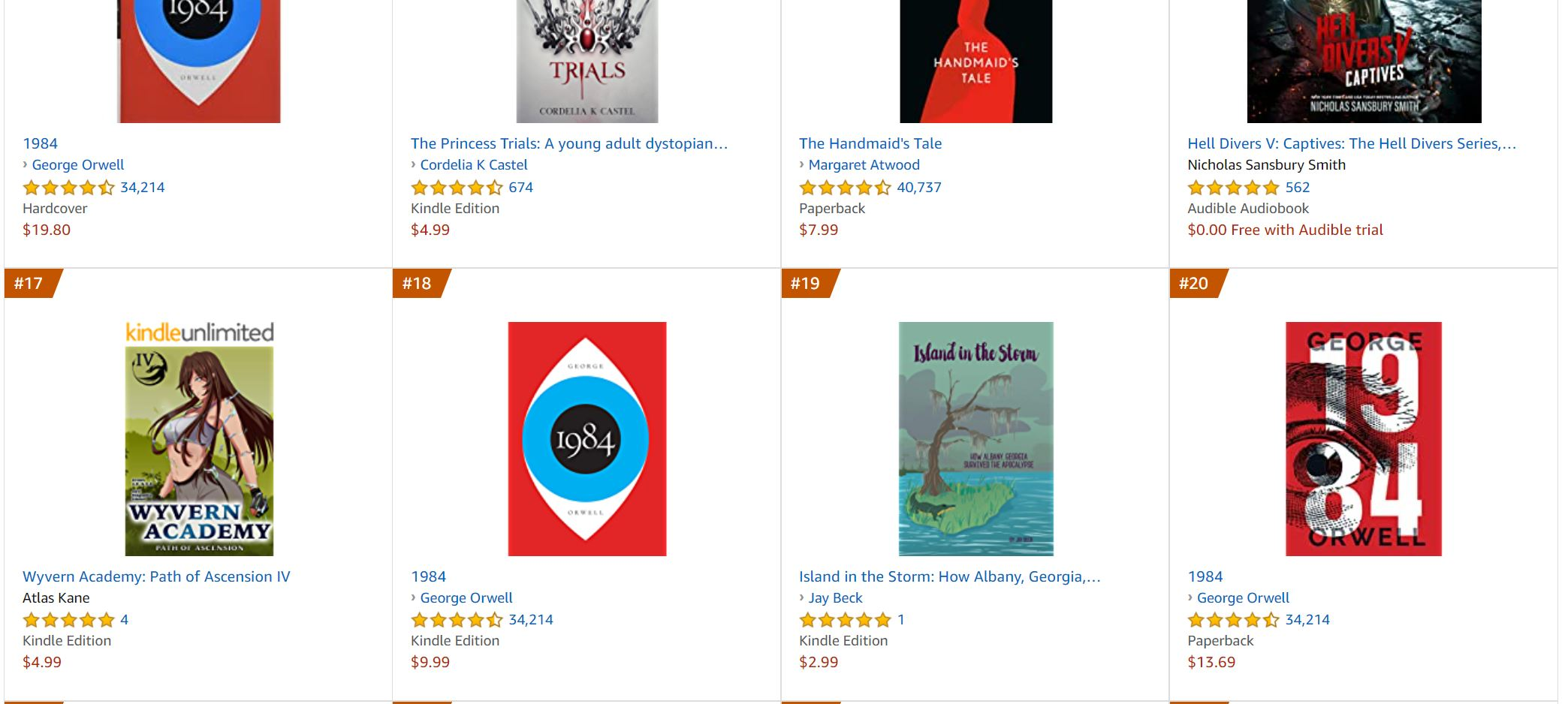no 19 bestseller dystopian fiction | Mindstir Media Book Cover