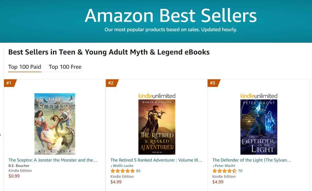 No 1 bestseller in myth and legend | Mindstir Media Book Cover
