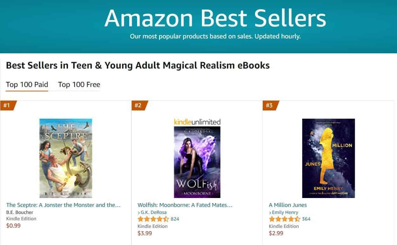 No 1 bestseller magical realism | Mindstir Media Book Cover